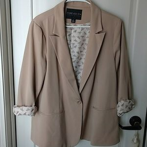 Tan Colored Roll up Blazer size 2X